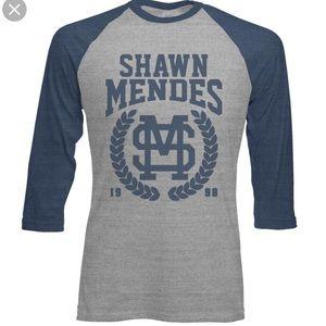 2794a0f29 NWOT Shawn Mendes Blue & Grey Baseball Tee